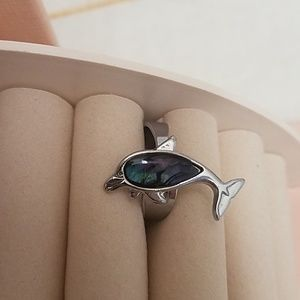 Jewelry - Sterling Silver Opal Dolphin Ring